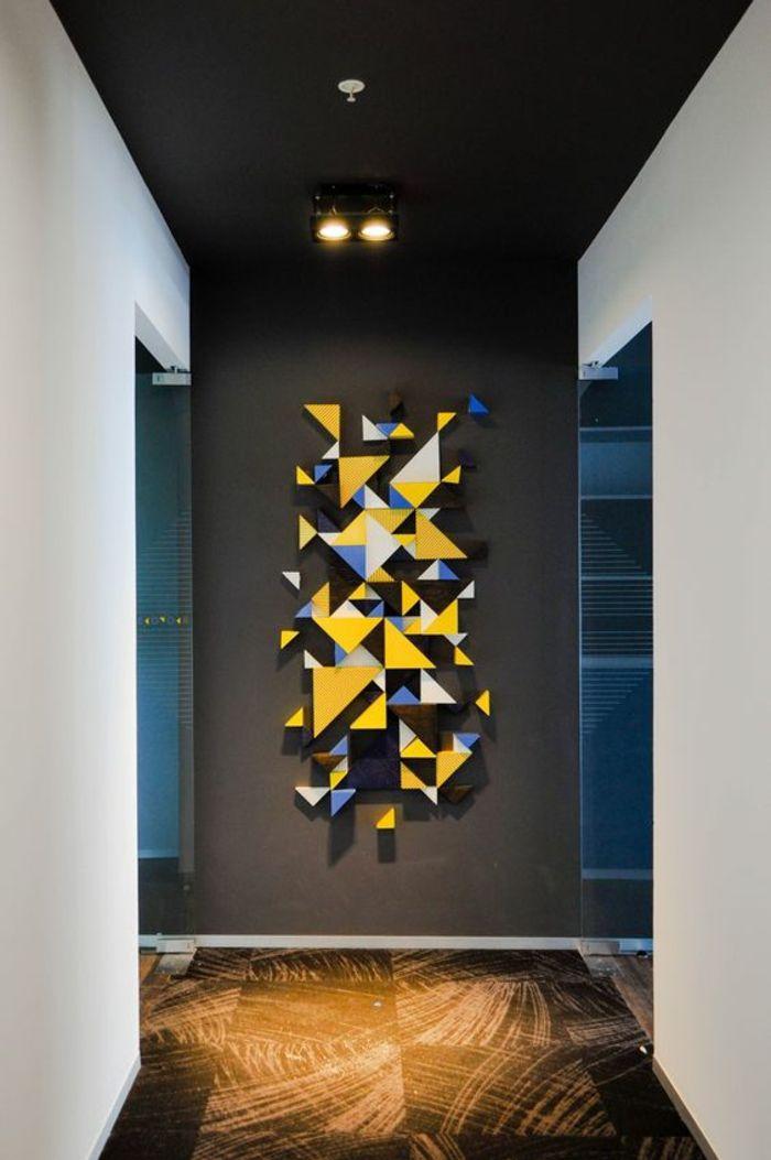 1001 id es pour habiller un mur les couleurs et les effets hits d coration pinterest. Black Bedroom Furniture Sets. Home Design Ideas