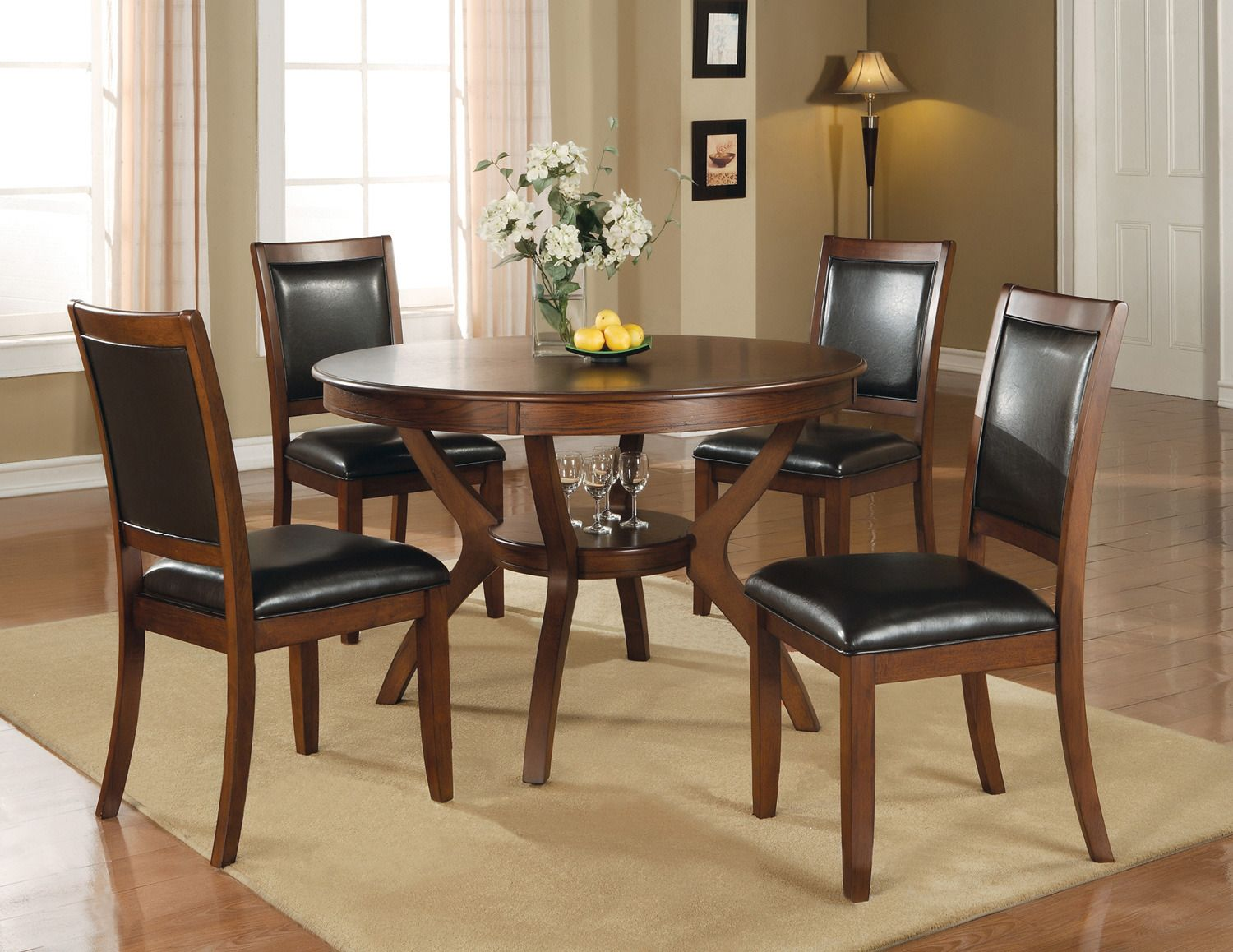 Nelms Round Dining Room Set Coaster Furniture Home Gallery
