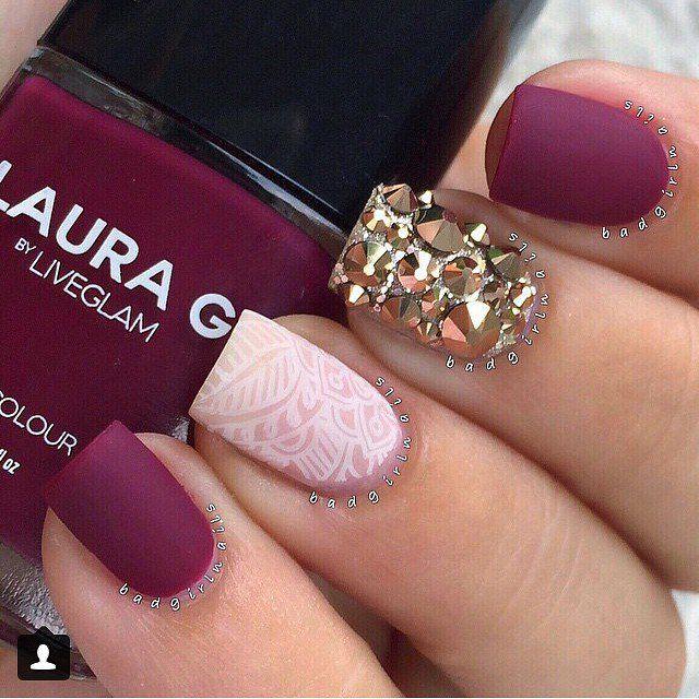 Resultado de imagen para uñas mate | Nails | Pinterest | Diseños de ...