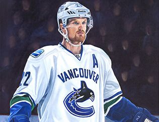 Daniel Sedin's 1000th game- Nov. 23, 2014 at Rogers's Arena, Vancouver, BC, against Chicago Blackhawks