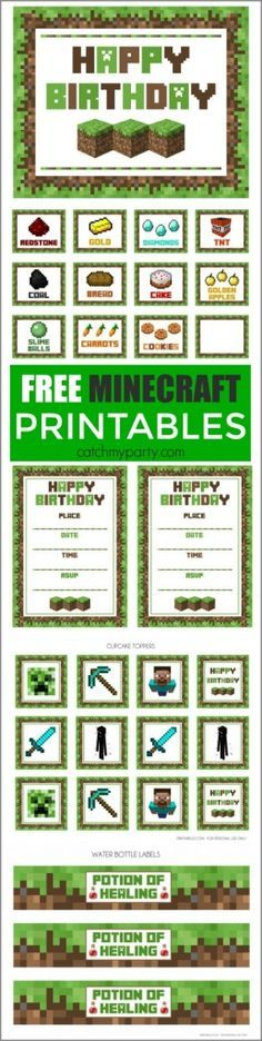 Minecraft party ideas galore! Everything you need to know to figure out how to throw a Minecraft party! Cakes, cookies, cupcakes, treat and food table ideas, and more!