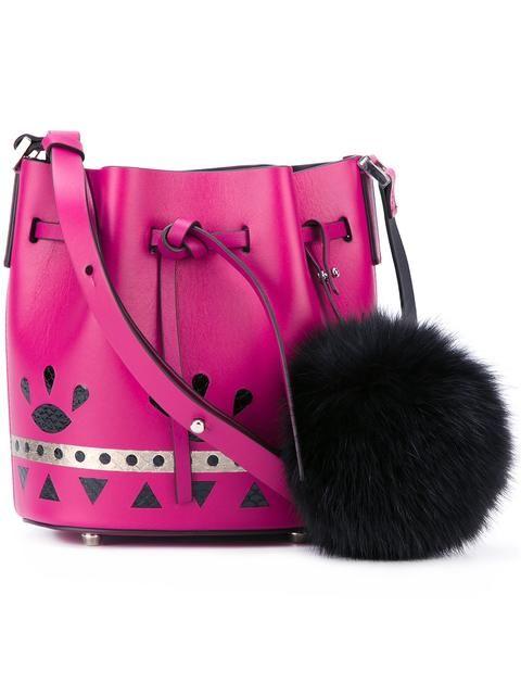LES PETITS JOUEURS Mini 'Daliah' Crossbody Bag. #lespetitsjoueurs #bags #shoulder bags #fur #crossbody #