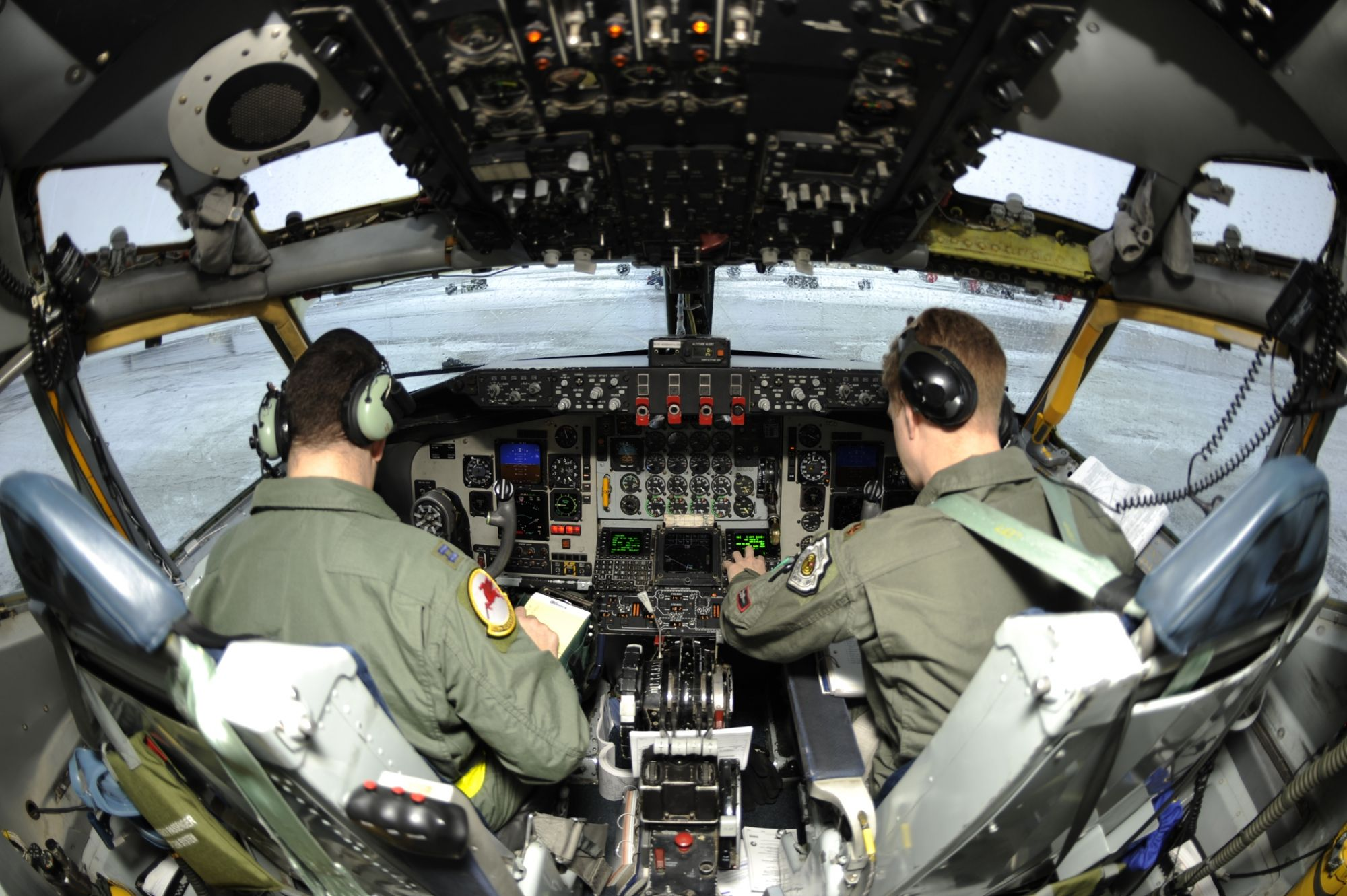 Kc 135 Stratotanker Cockpit Boeing Aircraft Military Airplane