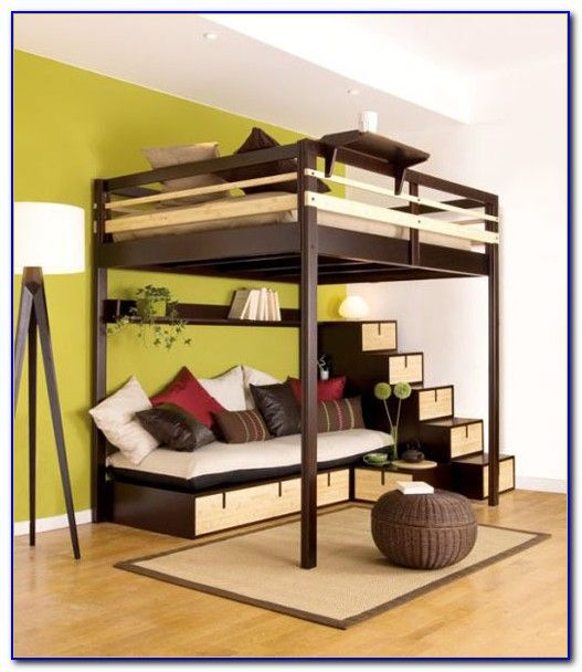 Best Queen Size Loft Bed Frame Plans For The Home Pinterest 640 x 480