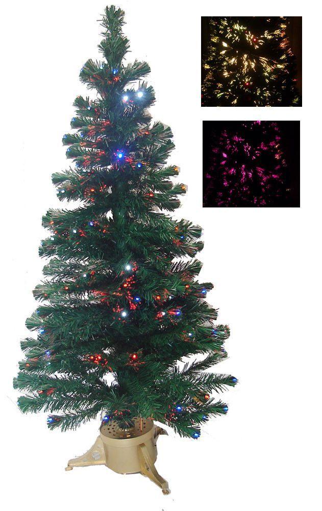 5' Multi-Color Fiber Optic Christmas Tree w/ Full 180 LED Lights by Merske