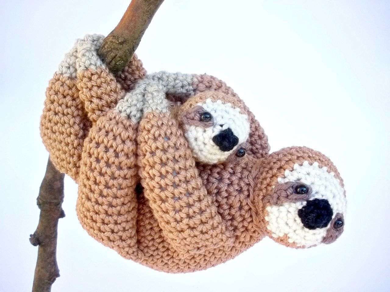 Mother & Baby Sloth Stuffed Animals, Cute Mother's Day Gift by Crochetonatree on Etsy