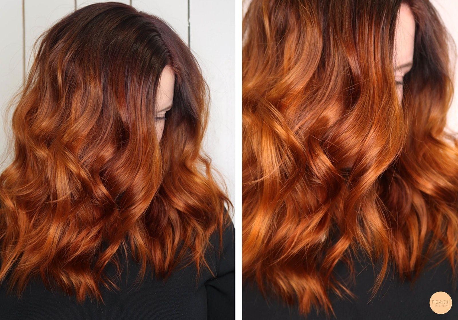 mörk koppar hårfärg