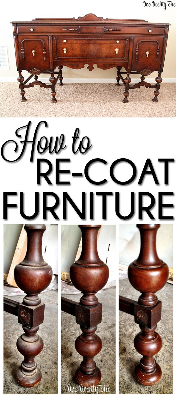 Diy antique furniture restoration - How To Re Coat Furniture Especially Family Heirlooms You Don T Want