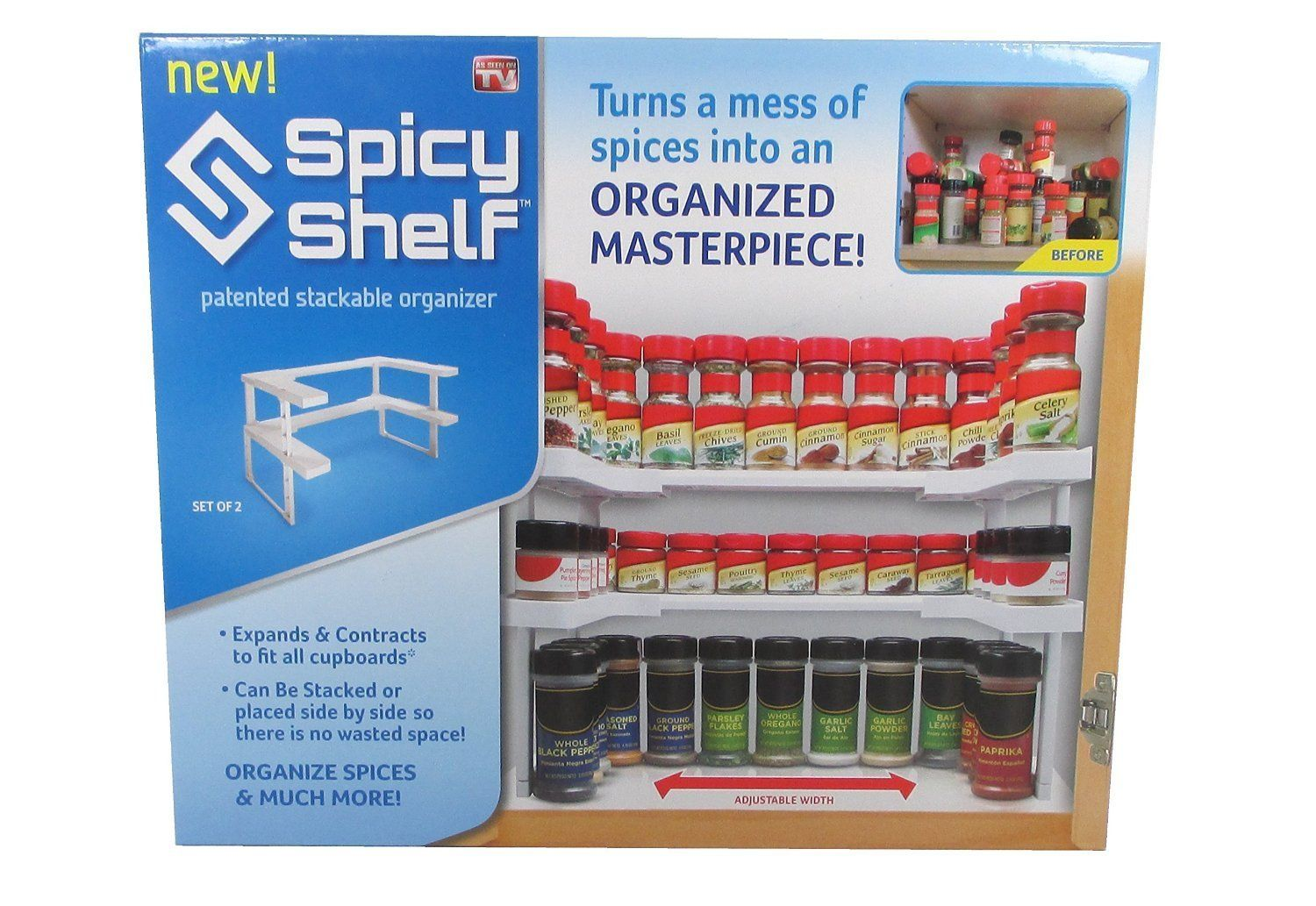 As Seen On Tv Spice Rack Spice Rack Holds Up To 64 Bottles Of Spicesadjustable Width