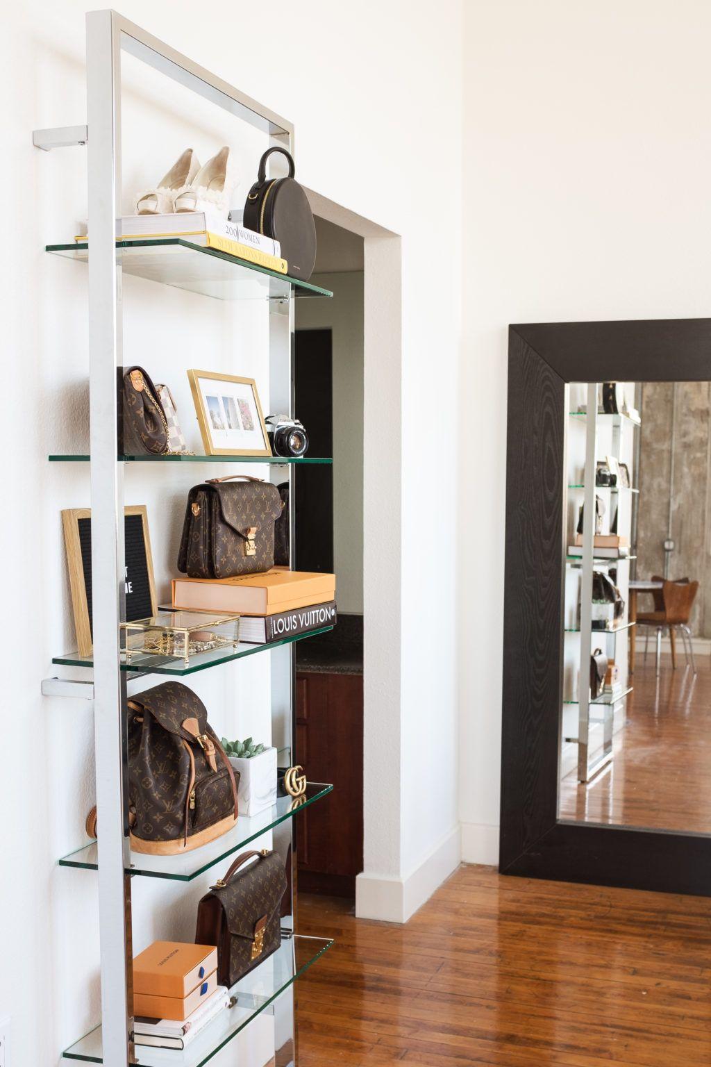 Cb2 tesso chrome bookcase styling apartment interior