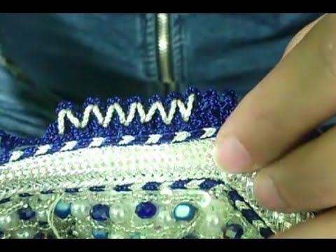 طريقة عمل الضرس للقفطان المغربي من البداية الى النهاية Embroidery Caftan Sewing