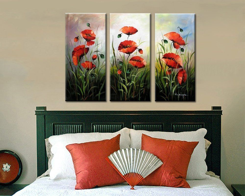 Amazon Com Noah Art Modern Flower Art Red Poppies Spring Flowers