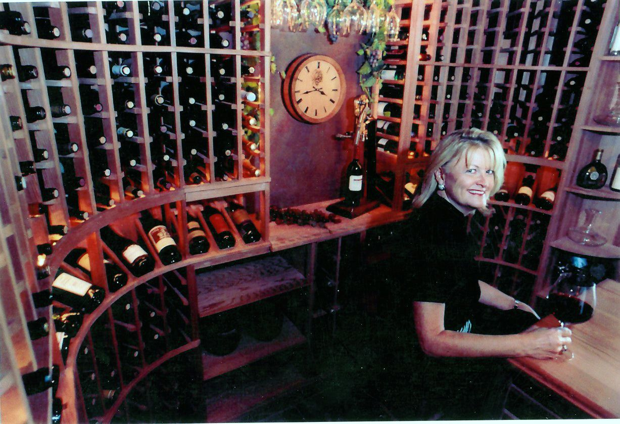 Here I Am Sitting In A 12x13x9 Wine Cellar I Designed And Built In Scottsdale Az Wine Cellar Design Cellar Design Custom Wine Cellars