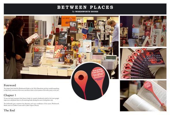 Wordsworth Books: Between Places | #ambient #creative #guerillamarketing  #guerilla #ambientmedia <<< found on www.adsoftheworld.com