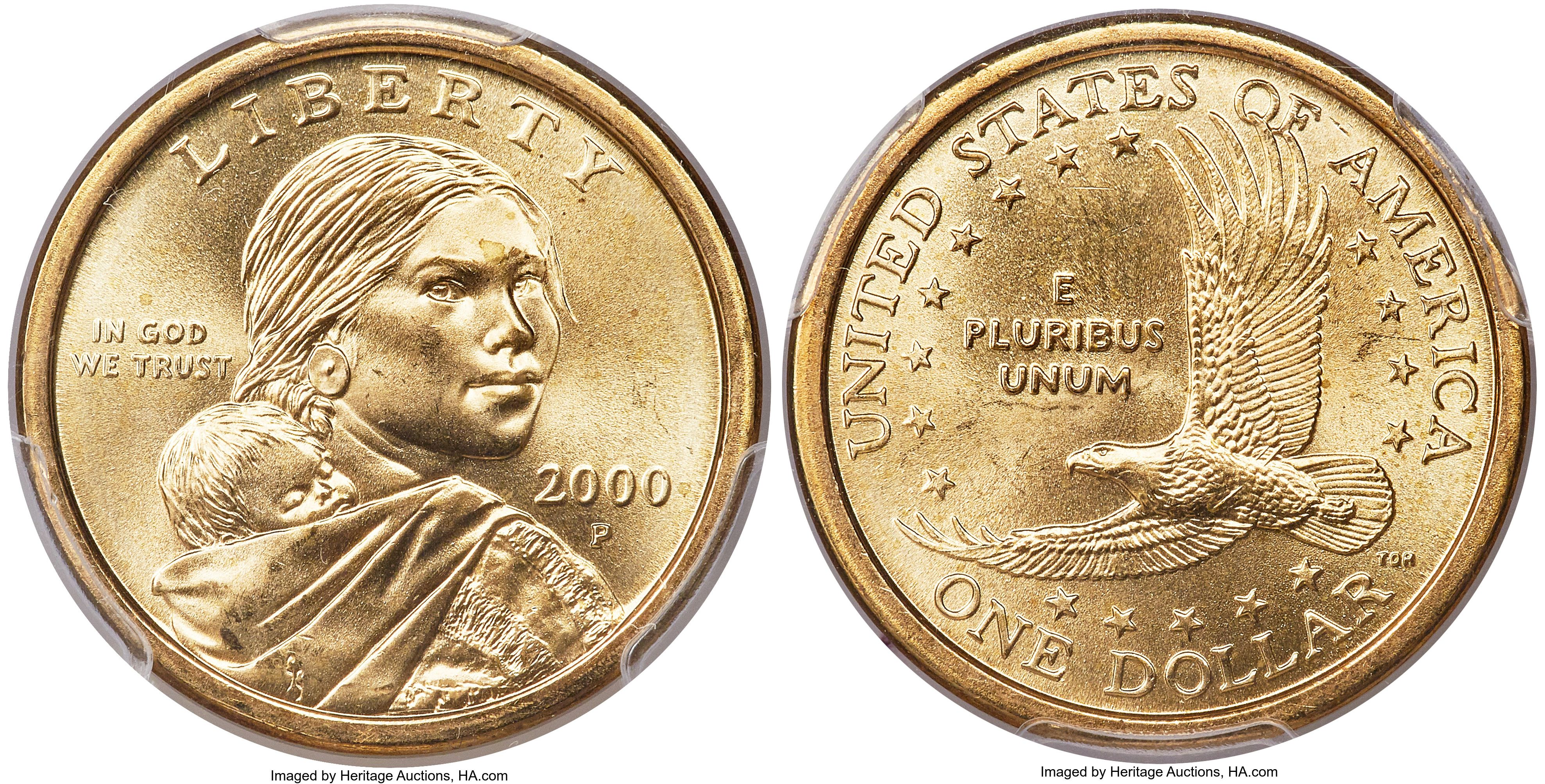 2000 P Sacagawea Wounded Eagle Dollar Value Coin Helpu Sacagawea Dollar Sacagawea Coins
