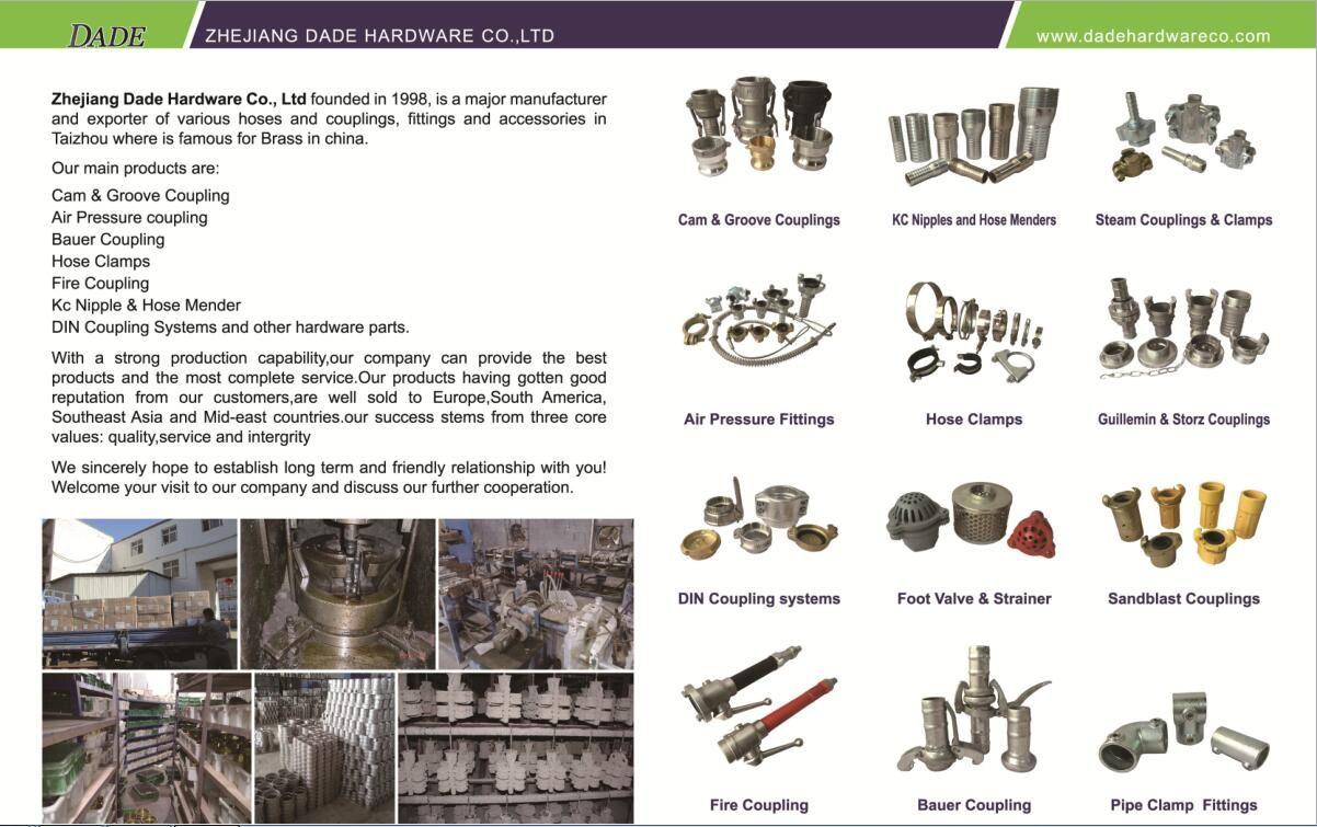 Hose Coupling Supplier Contact Janice Dadehardwareco Com Mobile 86 13960842802 Flushing Taizhou Air Pressure