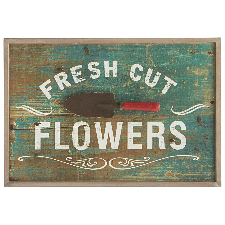 Multicolored fresh cut flowers wall decor wrought iron decor