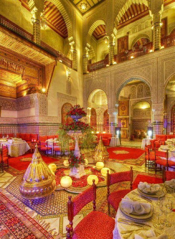 Salle De Mariage Avec Decoration Marocaine Mode 2016 Weddings