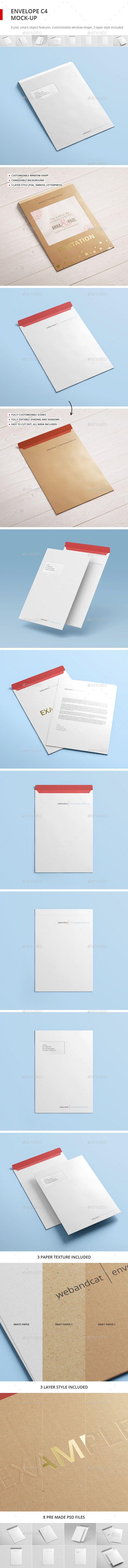 Envelope C4 Mock-up. Download here: http://graphicriver.net/item/envelope-c4-mockup/16513408?ref=ksioks