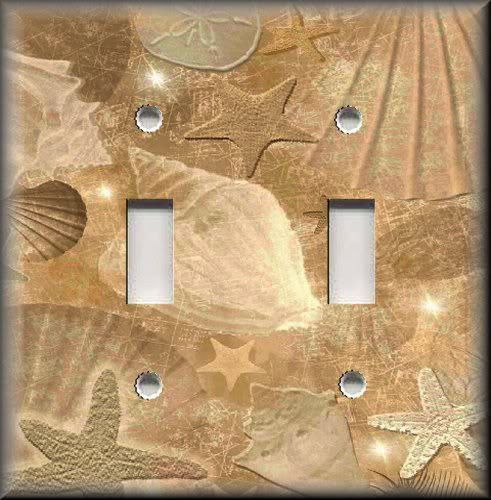 Light Switch Plate Cover - Beach Decor - Tranquil Beach Shells - Sun ...