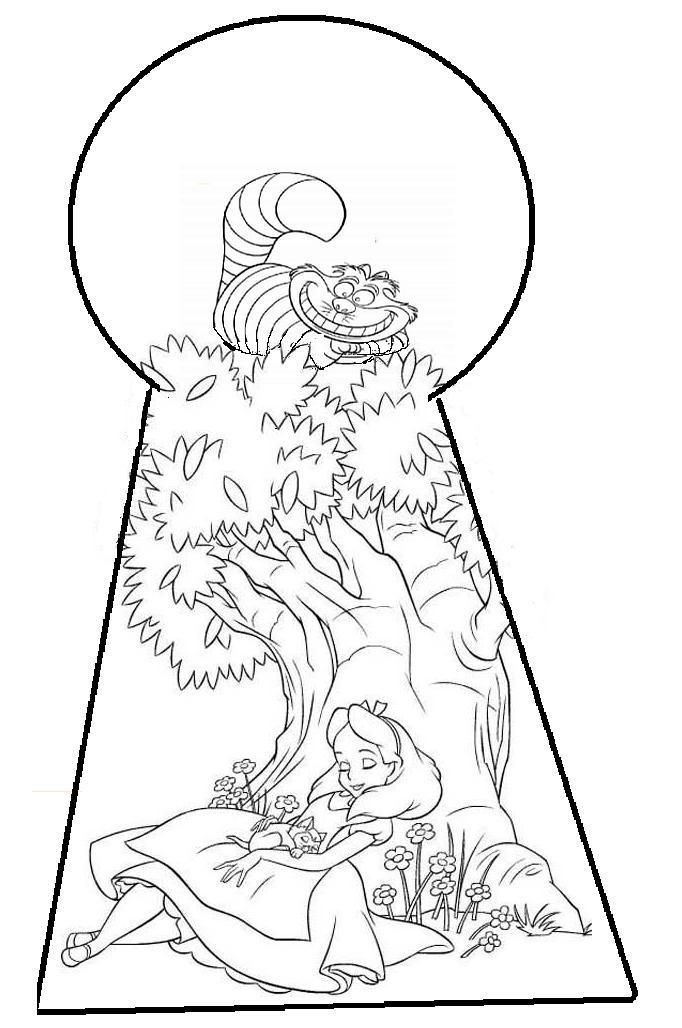 Alice In Wonderland Coloring Page | Алиса В Стране Чудес | Pinterest ...