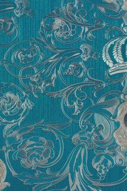 Harald Gloockler Deux Vliestapete 54419 Barock Krone Blau Online