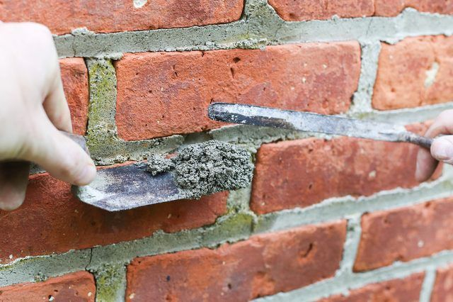 How To Patch Holes In A Brick Wall Hunker Patch Hole Brick Wall Diy Brick Wall