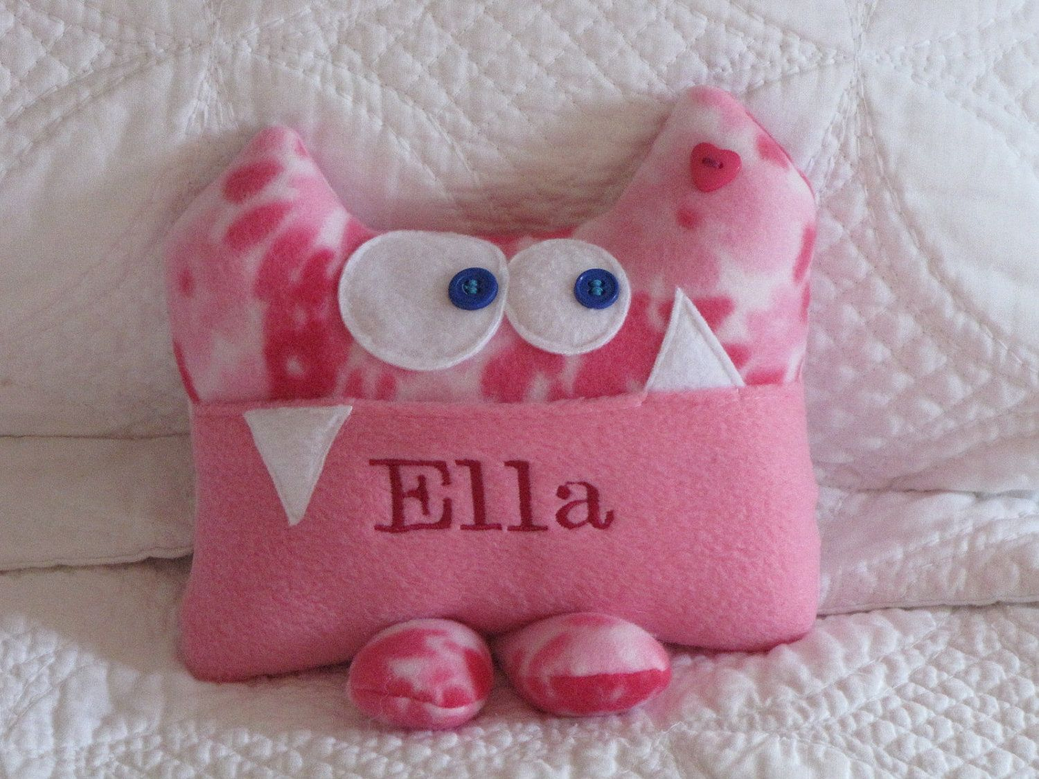 Cute Tooth Pillow : What a cute idea! A Personalized Tooth Fairy Pillow by Kooky Critters. $21.00, via Etsy ...