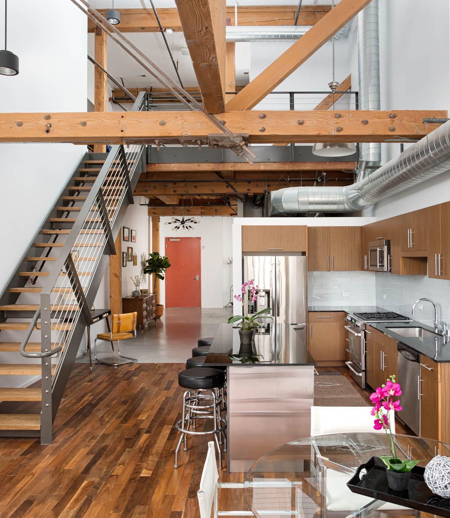 Modern Industrial Style Downtown La Loft Complete Remodel La Lofts Downtown Apartment Cool Apartments