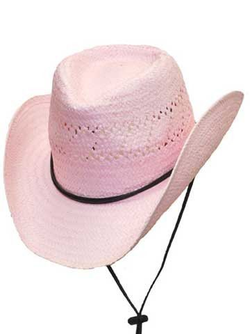 01963cfd Pinched Front Kids Straw Hat With Chin Strap-Pink-RA-200PINK/KEXP ...