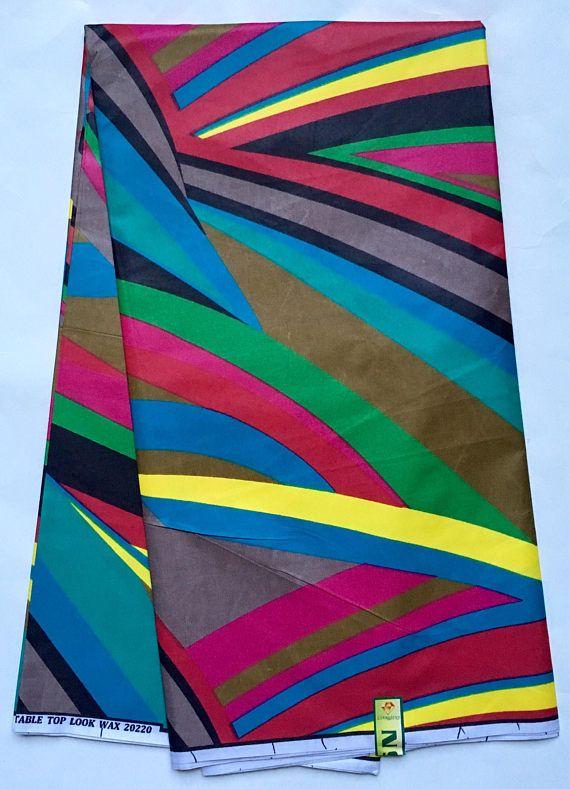 African Print Fabric Dutch Wax Ankara Multicolored African