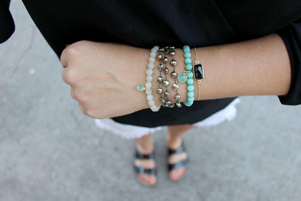 leMel designs - the more bracelets the better! #lemel  jewelry | handmade jewelry | artisan jewelry| texas designers | bridal jewelry | homemade jewelry | custom made jewelry | druzy jewerly | handmade jewellery | bridesmaid gifts