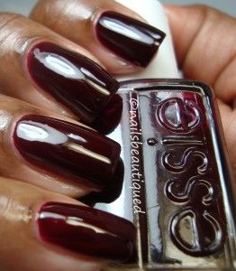 Oxblood Red Essie Skirting The Issue From Stylenomics Fall 2017 Collection