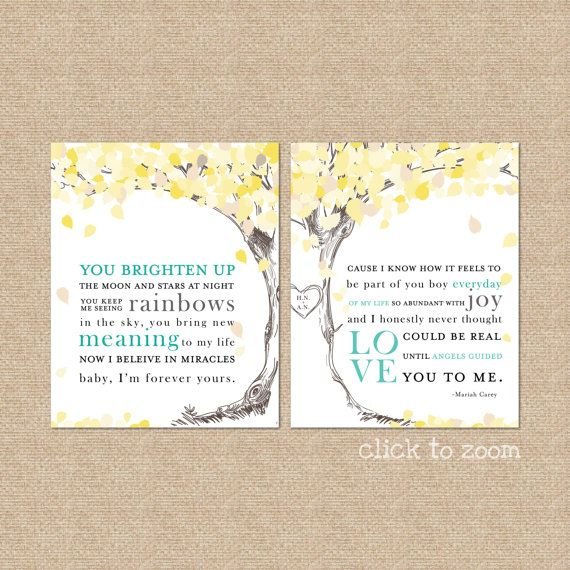 Wedding Song Lyrics Print A Personalized Keepsake Great For Christmas Anniversary Gifts Giclée Art Set