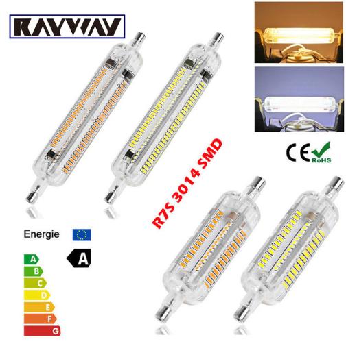 New Silicone R7s Led Lamp 10w 15w Smd3014 78mm 118mm Led R7s Light Bulb 220 240v Energy Saving Replace Halogen Light Led Flood Lights Halogen Lamp Flood Lights