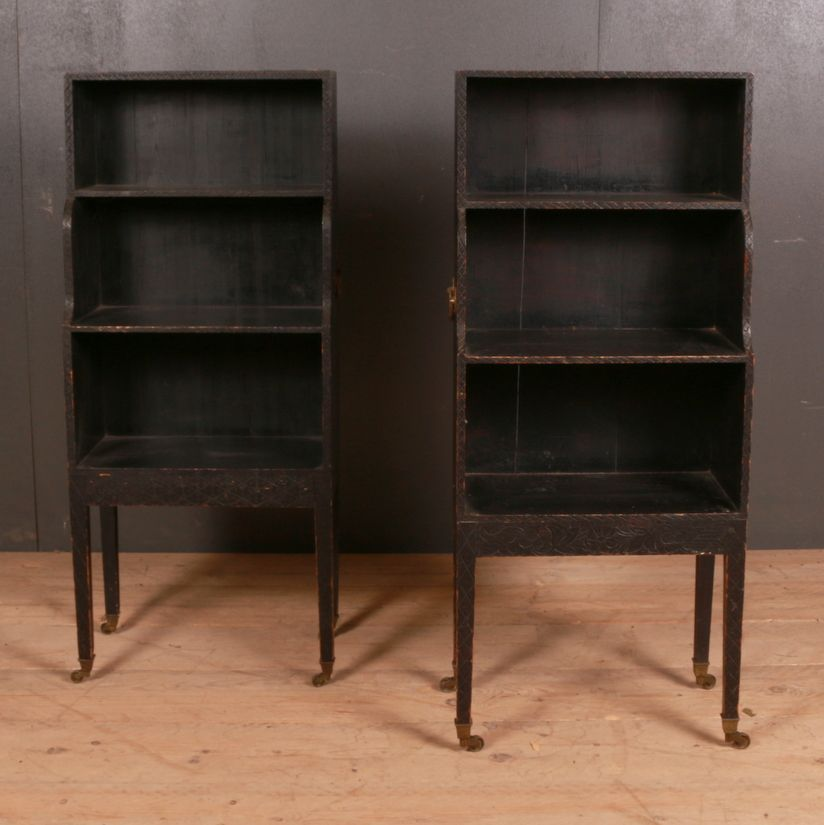 Pair Of 19th C English Tiered Bookcases 1890 Reference