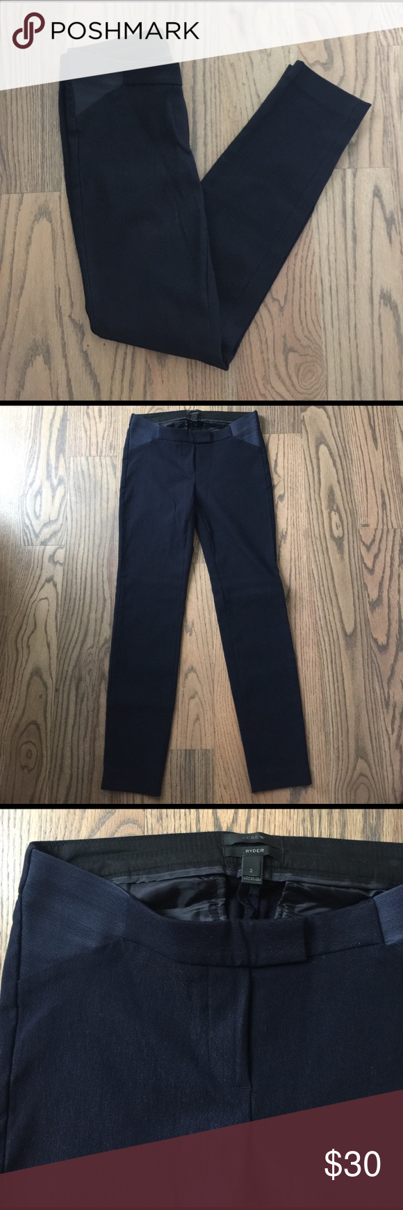 """J. Crew Maternity dress pants Navy blue J. Crew """"Ryder"""" maternity dress pants. Straight-leg fit. This is a re-Posh. Unfortunately they did not fit me. 28 in inseam. Brand new. Original seller never wore. Excellent condition. J. Crew Pants Straight Leg"""