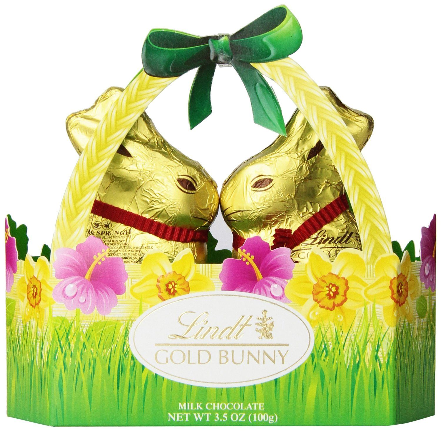 Amazon lindt gold bunny basket 35 ounce chocolate this unique basket features the lindt gold bunny in a smaller size made with lindt milk chocolate a very nice informal gift and great for negle Image collections
