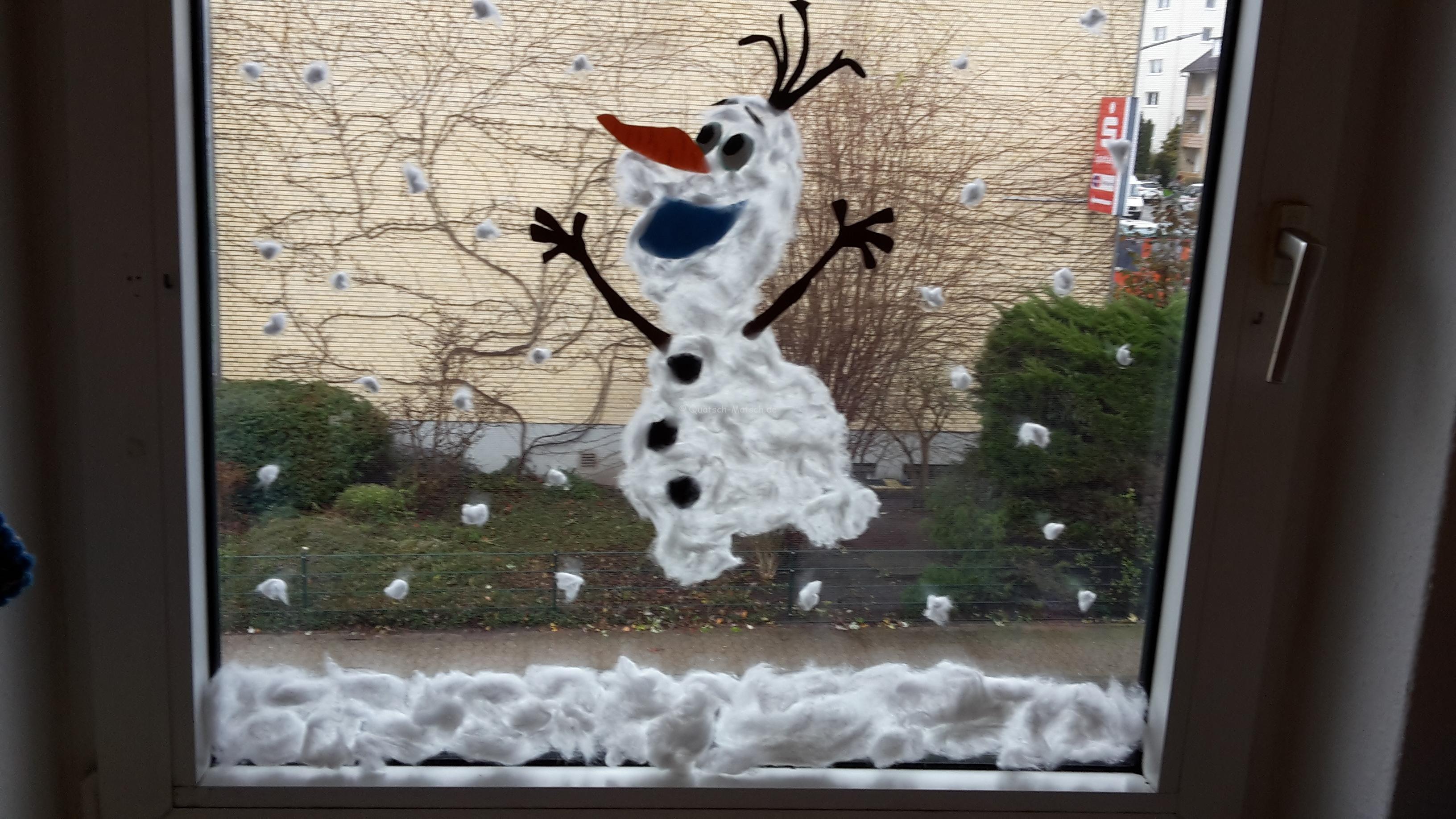 Ein Fensterbild Mit Watte Und Kleister Machen? Geht Das