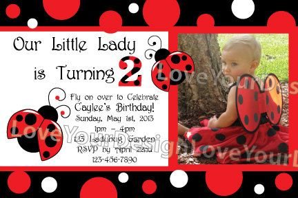 Hey, I found this really awesome Etsy listing at http://www.etsy.com/listing/119497525/little-lady-ladybug-birthday-invitation