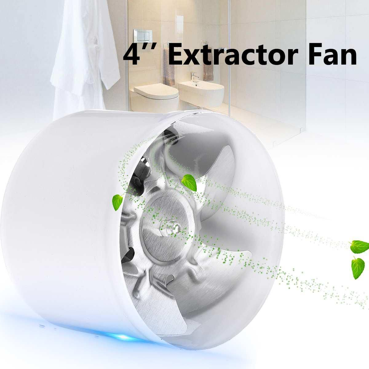 220v 4 25w Exhaust Blower Silent Wall Extractor Ventilation Fan