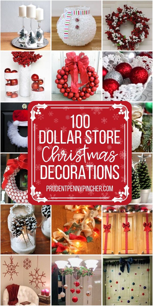 100 DIY Dollar Store Christmas Decor Ideas #dollarstorechristmascrafts