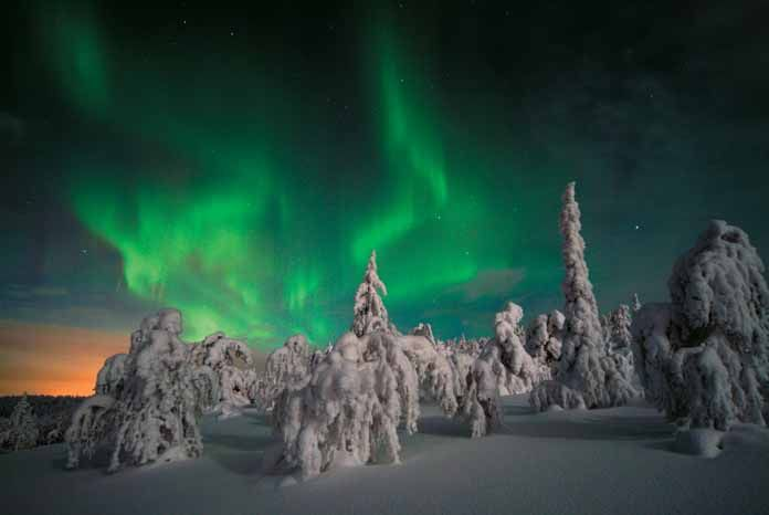 See the Northern Lights in Iso Syote or Ruka during your ski holiday - new blueprint alberta northern lights