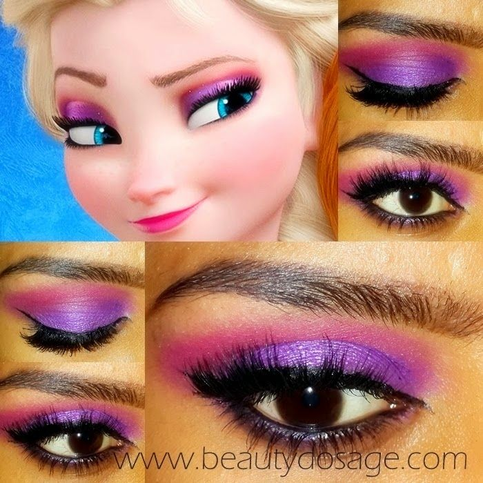 Elsa From Frozen Eye Makeup Tutorial With Images Disney Makeup