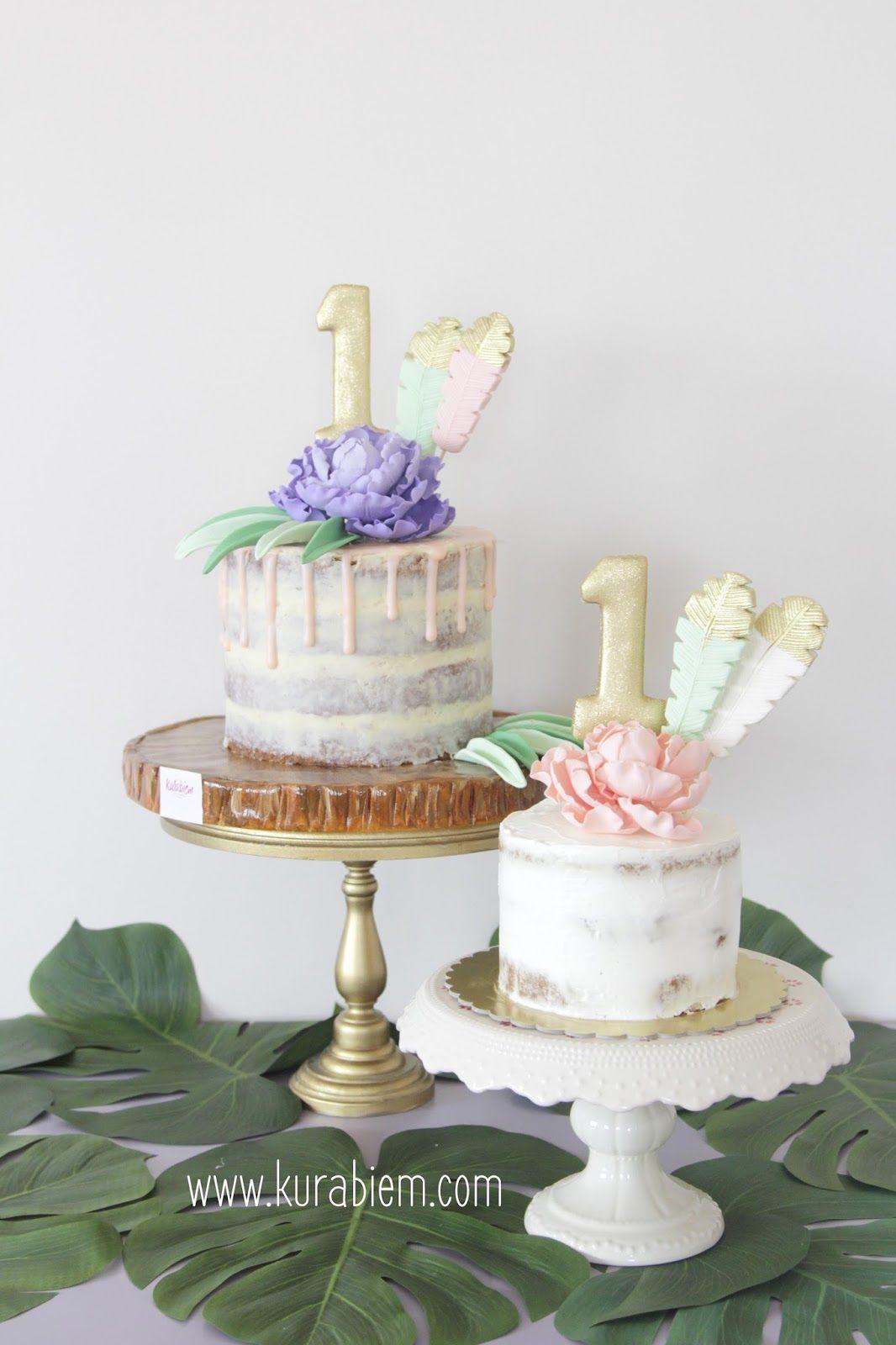 No sugar cake baby cake first birthday cake bohemian cake
