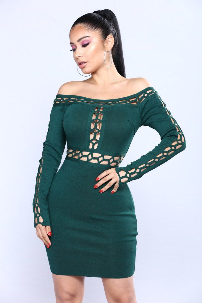 b45d55c55e7 Change My Life Bandage Dress - Hunter Green