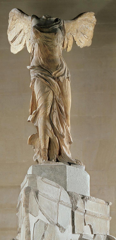 "Corte de pelo Noche Percibir  Nike of Samothrace""-Hellenistic-Sanctuary of the Great Gods-180 BCE-Marble  | Esculturas, Escultura griega, Arte grande"