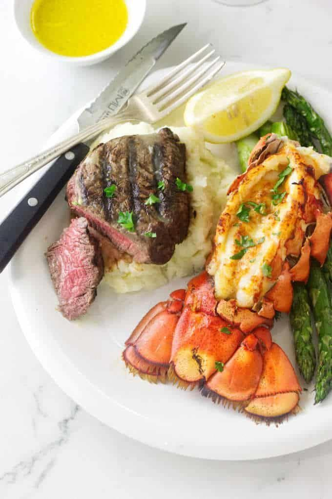 This Grilled Steak and Lobster Dinner is for one of those ...