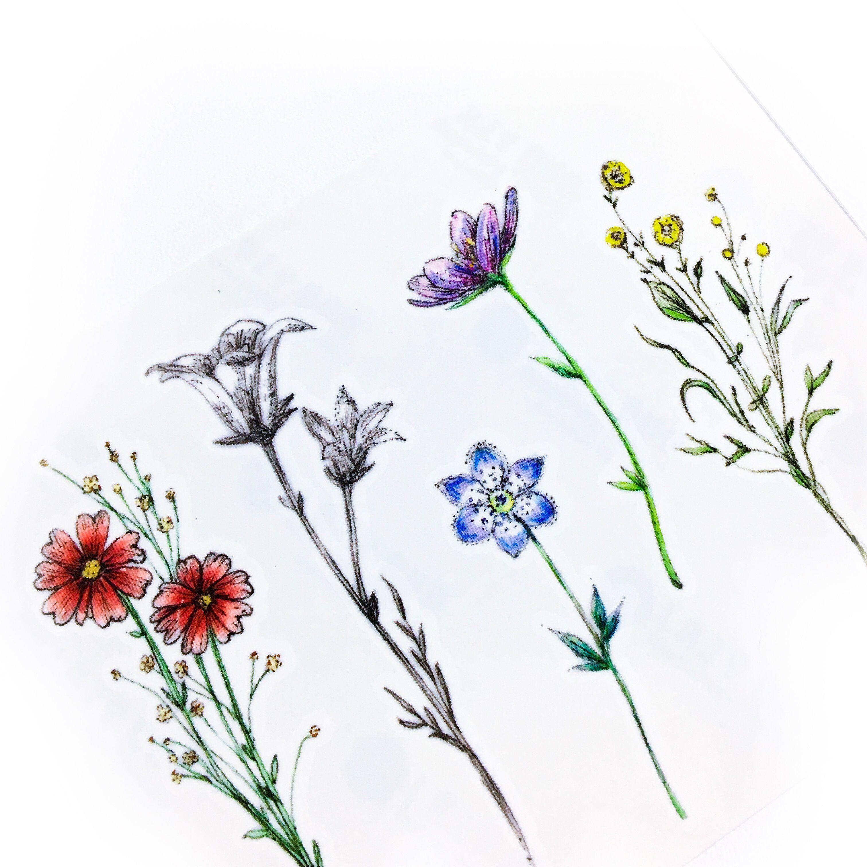 Minimal watercolor flower tattoos pinterest tattoo watercolour