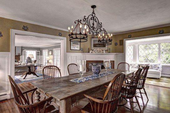 Rustic dining room #RusticInteriorFireplace Rustic Interior